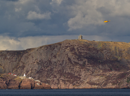Rescue helicopter & Signal Hill - Deadman's Bay Path