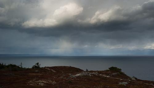 Cold clouds over Black Head North - Stiles Cove Path