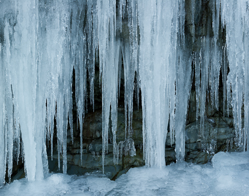Icicles - Middle Cove beach