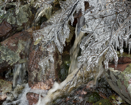 Ice at the brook - Cobbler Path