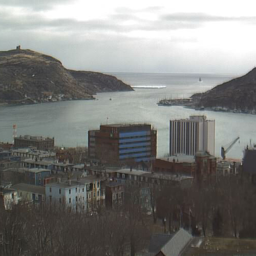 Closeup of an iceberg caught on webcam - CBC's St. John's HarbourCam