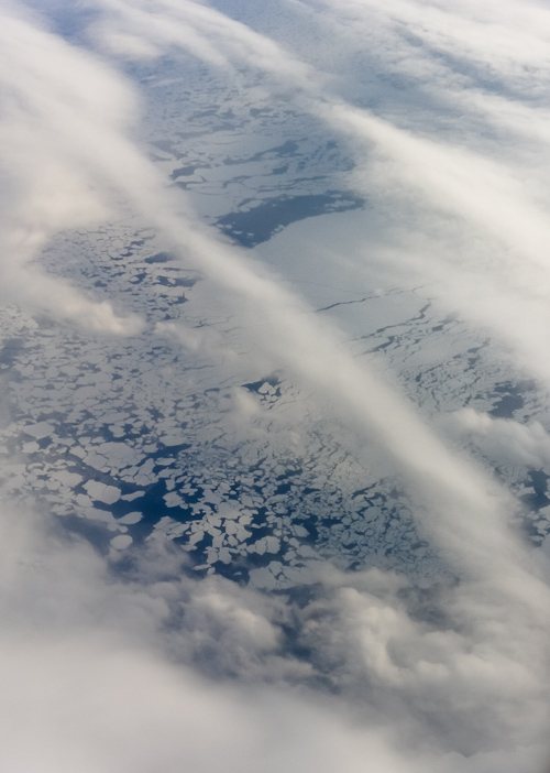 Sea ice off the Labrador coast