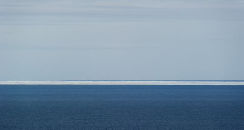 Sea ice on the horizon - Biscan Cove Path