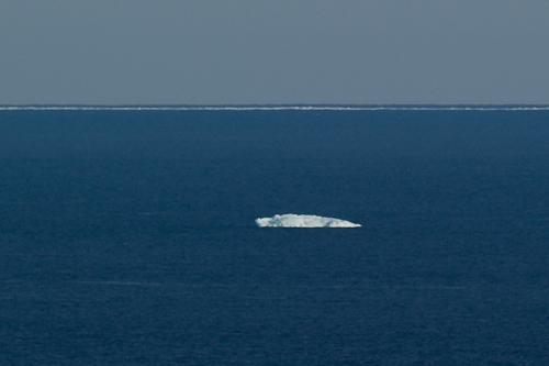 Very distant iceberg - Stiles Cove Path