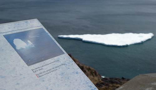 Iceberg information sign - Signal Hill