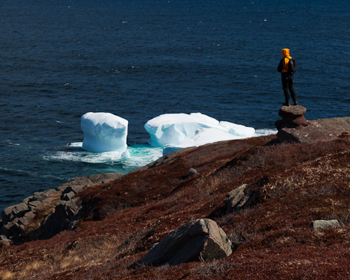 Me and an iceberg - Cape Spear Path