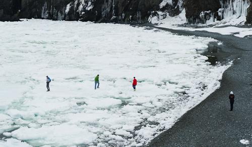 Fun on sea ice - Middle Cove