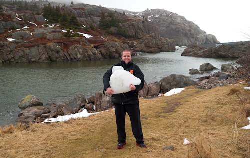 Taking some ice home - Quidi Vidi