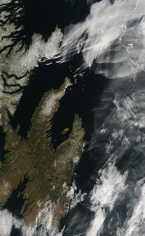 Icebergs at the Avalon Peninsula - Image Credit: NASA/GSFC, Rapid Response