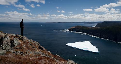 Tabular iceberg in Robin Hood Bay - Sugarloaf Path
