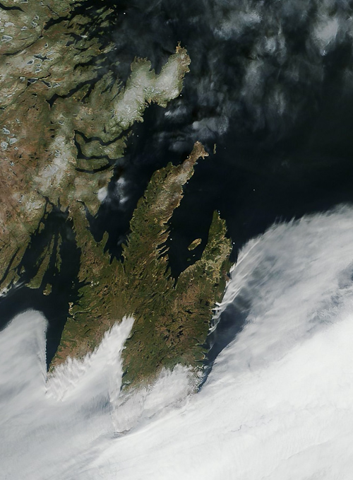 Coastal fog seen from satellite - Image Credit: NASA/GSFC, Rapid Response