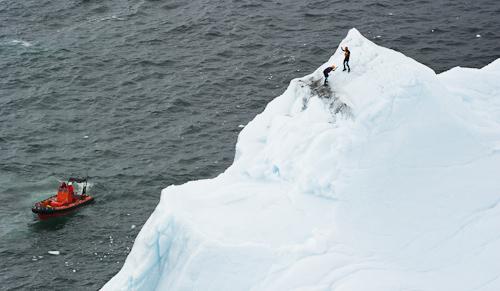 Activity around the iceberg - Quidi Vidi