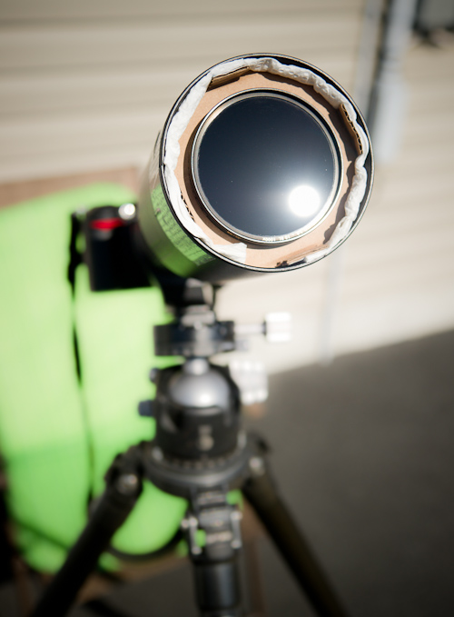 A makeshift solar observation solution