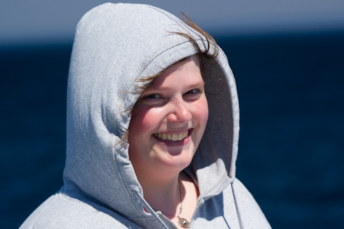 A happy Marije - Witless Bay Ecological Reserve