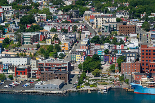 Downtown St. John's seen from the South Side Hills