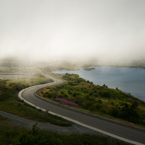 Fog comes in on Signal Hill - St. John's