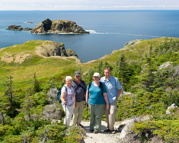 Group photo - Long Point hiking trails
