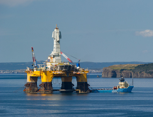 Henry Goodrich oil rig - St. Philip's / Conception Bay