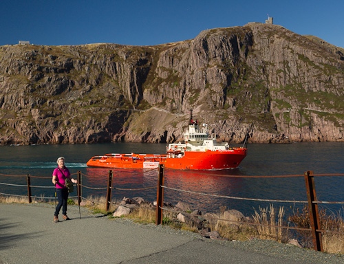 Mom walks to Fort Amherst - Narrows, St. John's