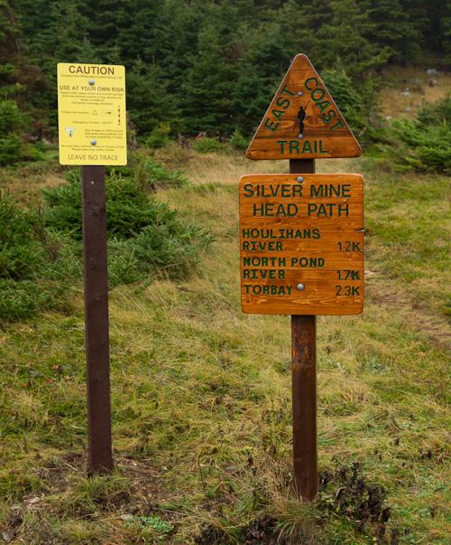 New sign at the trailhead - Silver Mine Head Path