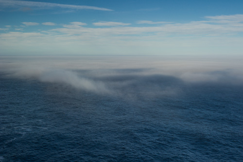 Fog on the Atlantic Ocean - Red Cliff