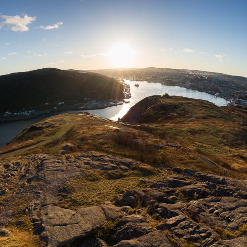 Cold sun - Signal Hill, St. John's