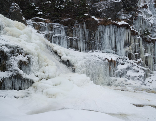 Cold waterfall - Stiles Cove Path