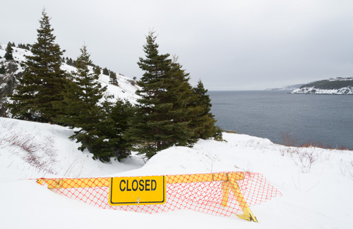 Tappers Cove is closed - Father Troy's Trail