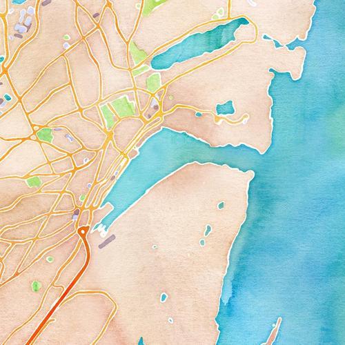 Watercolour Map of St. John's - by Stamen