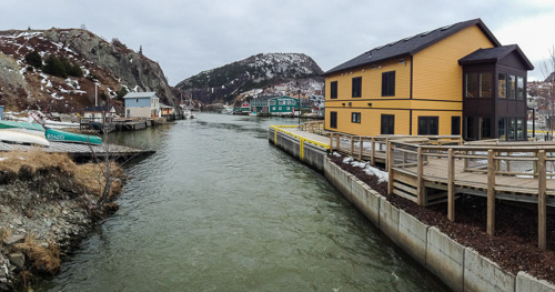 View from the 'new' bridge - Quidi Vidi