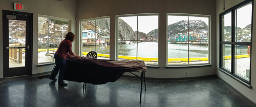 Working by the window - Quidi Vidi Village Plantation