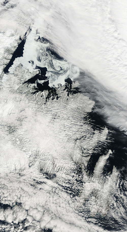 Sea ice in Central Newfoundland - Image Credit: NASA/GSFC, Rapid Response