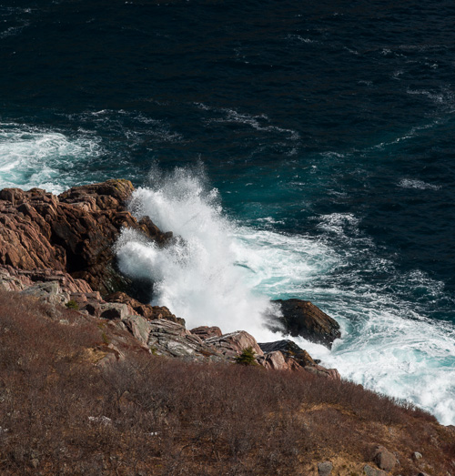 Waves in Cuckold Cove - Cuckolds Cove Trail