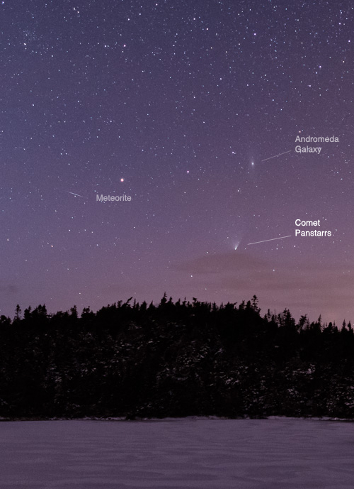 Comet Panstarrs and friends - Flatrock
