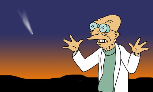 Professor Hubert J. Farnsworth shares the good news.