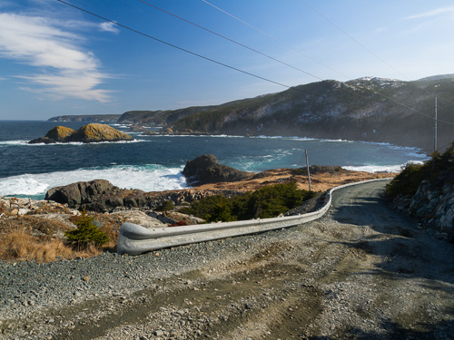 Gravel road in Biscan Cove - Cape St. Francis