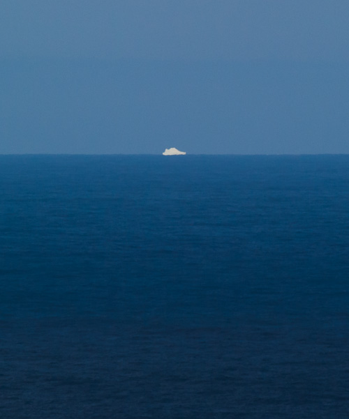 Bigger iceberg, far out to sea - Flatrock