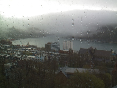 Fog flows in like a wet blanket - CBC HarbourCam