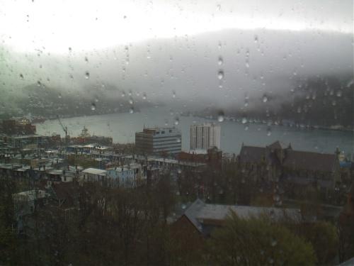 Fog flows in like a wet blanket - CBC HarbourCam