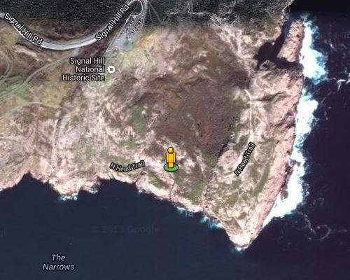 Yellow Pegman on North Head Trail