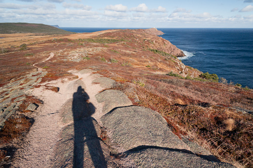 My shadow - Cape Spear Path