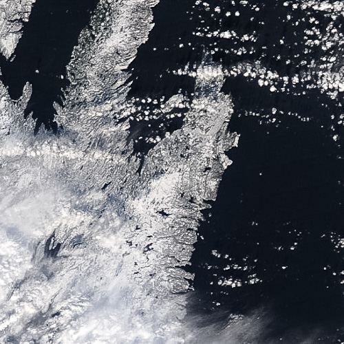 A beautiful day for the northeast Avalon – Image Credit: NASA/GSFC, Rapid Response