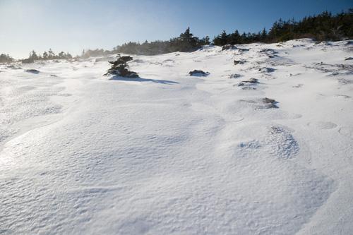 Frozen snow - Blackhead Path
