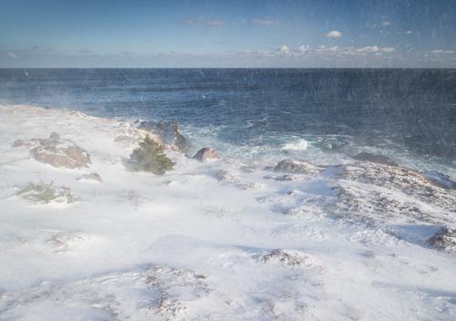 Blowing snow - Blackhead Path