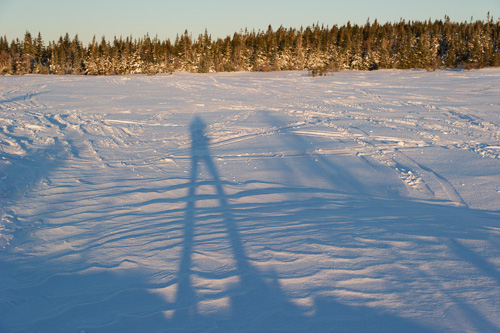Alone on the frozen marshes - Overland route to the Spout