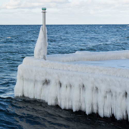 Ice on the pier - St. Philip's