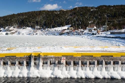 Frozen dock - St. Philip's
