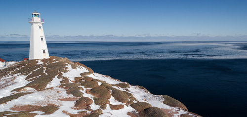 First sea ice reaches the coast - Cape Spear