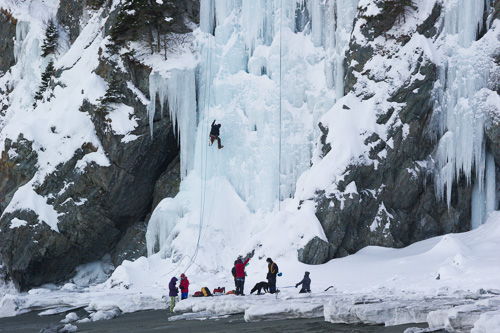 Ice climbers - Lance Cove
