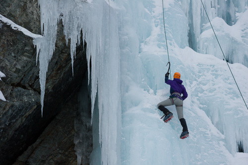 Ice climber, going up - Lance Cove